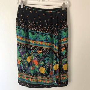 Colourful printed Carole Little Skirt-Petite sz 6